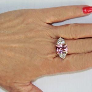 Jewelry - Radiant Cut 6.79 Carat Pink Tourmaline Ring